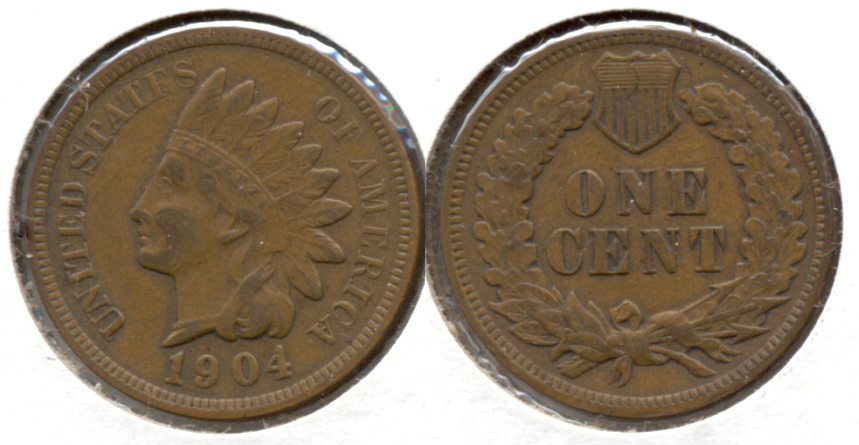 1904 Indian Head Cent VF-20 d
