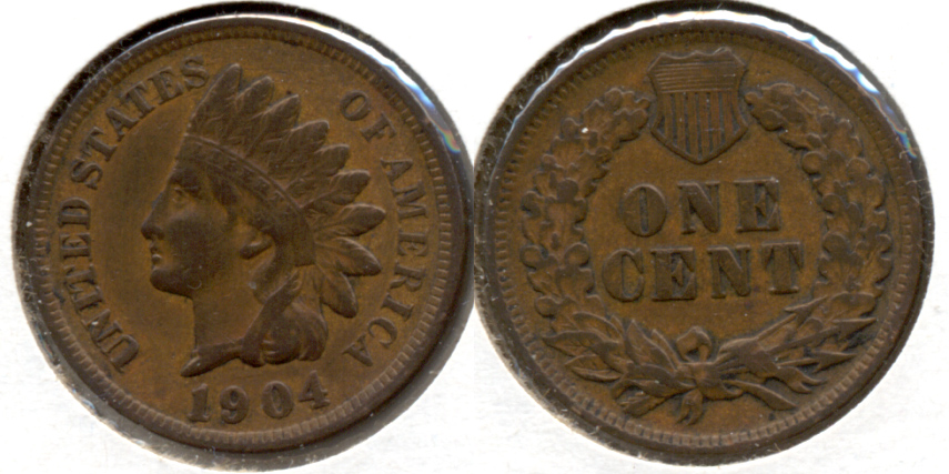 1904 Indian Head Cent VF-20 q