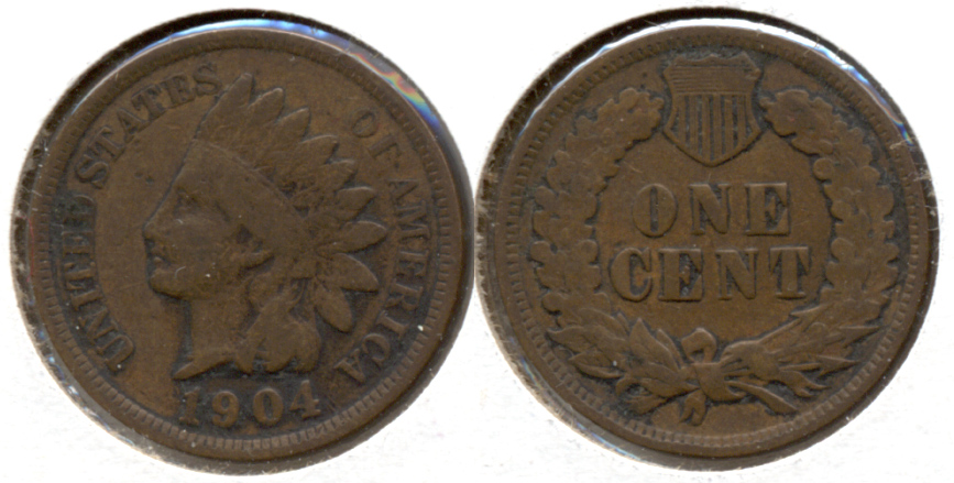 1904 Indian Head Cent VG-8 c
