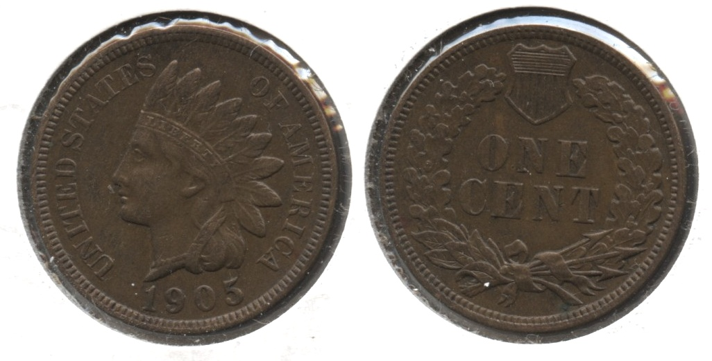 1905 Indian Head Cent AU-50 #k