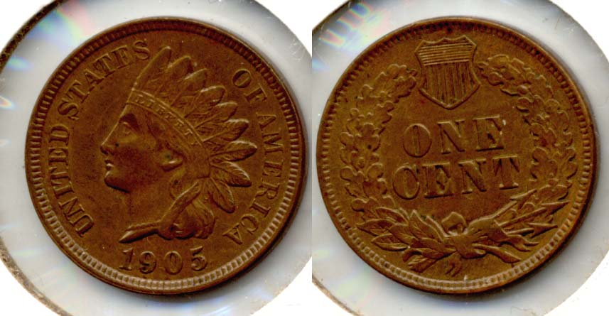 1905 Indian Head Cent AU-55 c