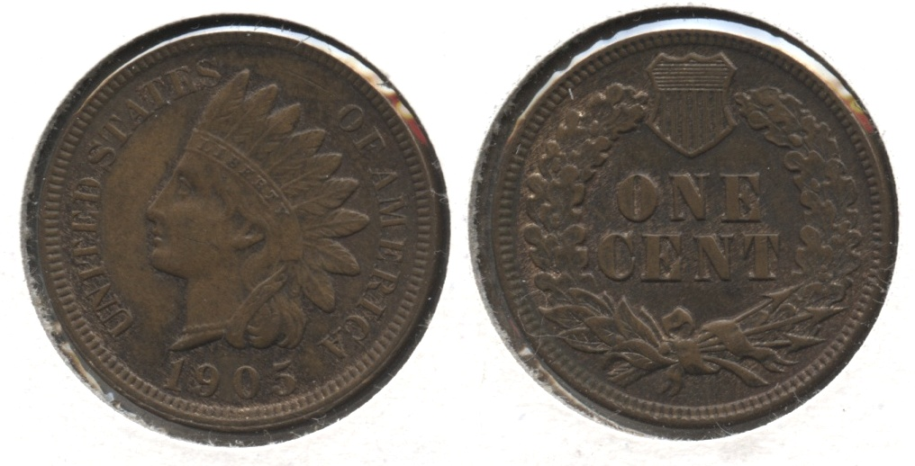 1905 Indian Head Cent AU-58