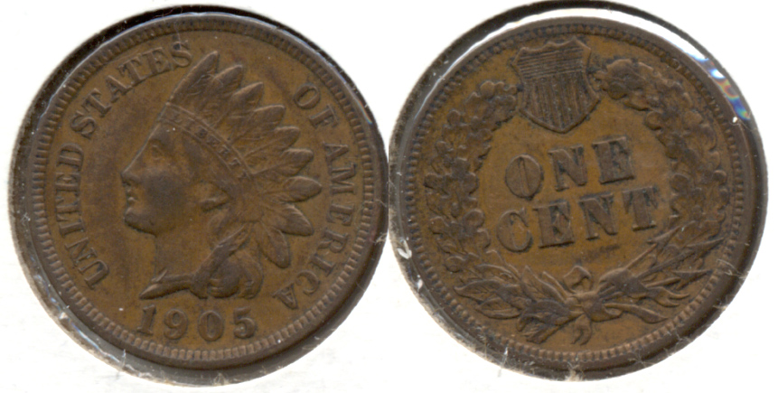 1905 Indian Head Cent EF-40 b