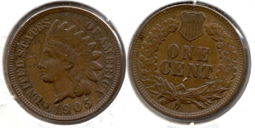 1905 Indian Head Cent EF-40 d