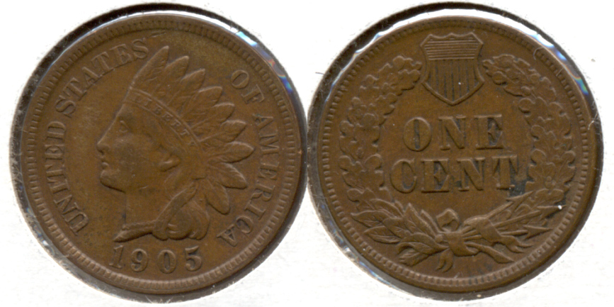 1905 Indian Head Cent EF-40 e