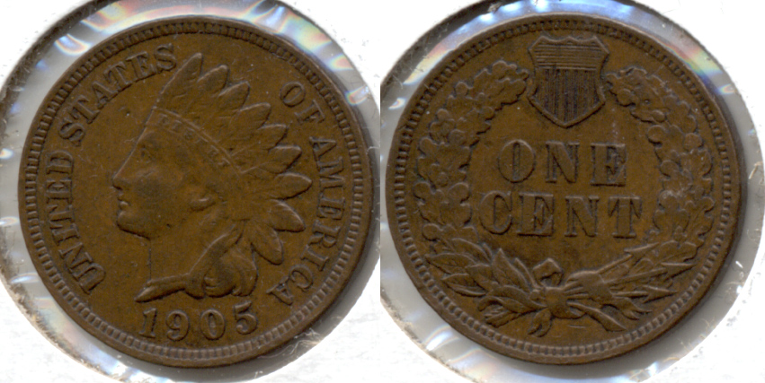 1905 Indian Head Cent EF-40 g