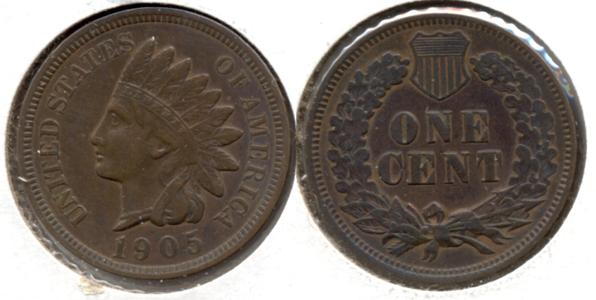 1905 Indian Head Cent EF-40 i