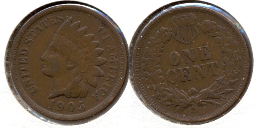 1905 Indian Head Cent Fine-12 g