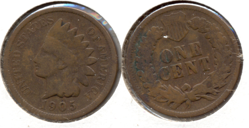 1905 Indian Head Cent Good-4 c
