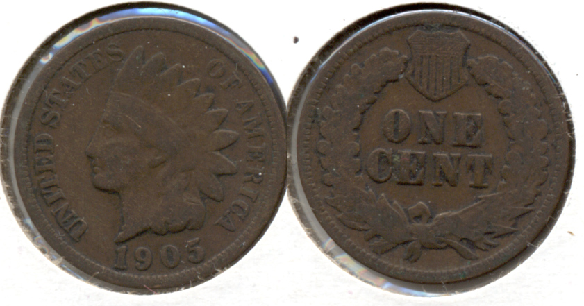 1905 Indian Head Cent Good-4 f