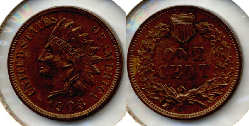 1905 Indian Head Cent MS-60 Brown
