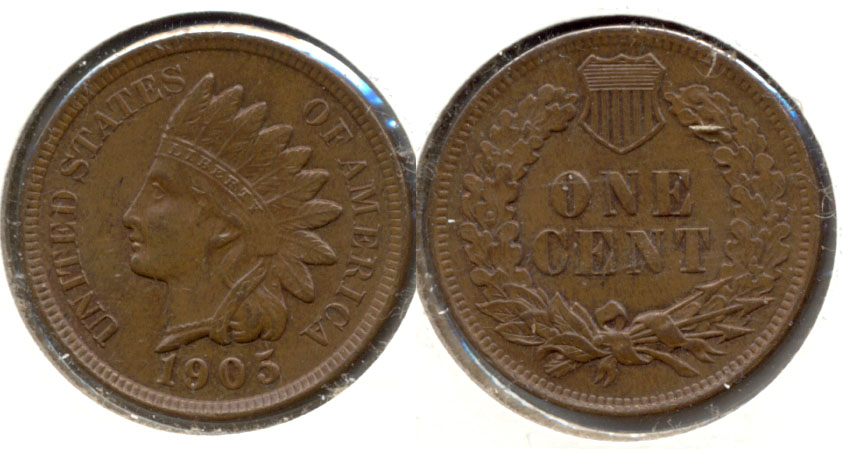 1905 Indian Head Cent MS-63 Brown