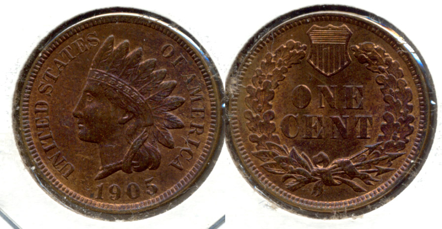 1905 Indian Head Cent MS-63 Red Brown