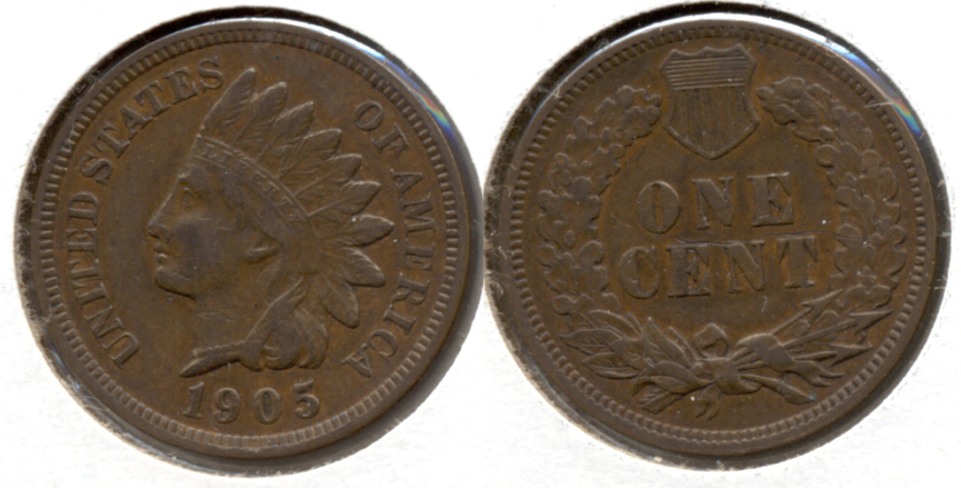1905 Indian Head Cent VF-20