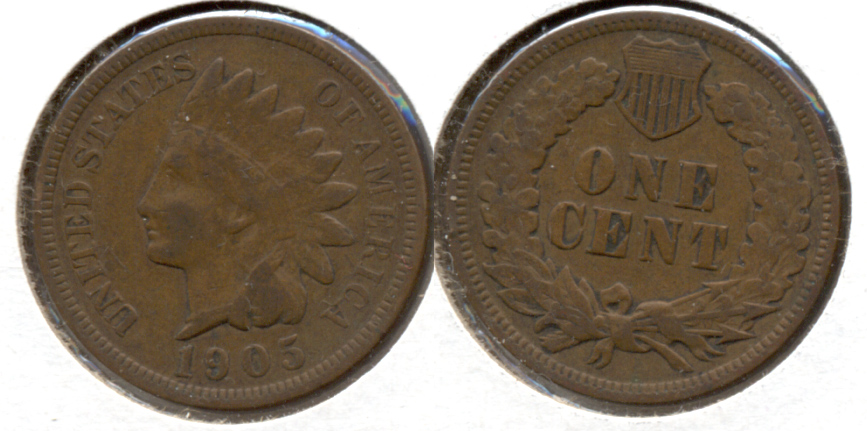 1905 Indian Head Cent VF-20 d