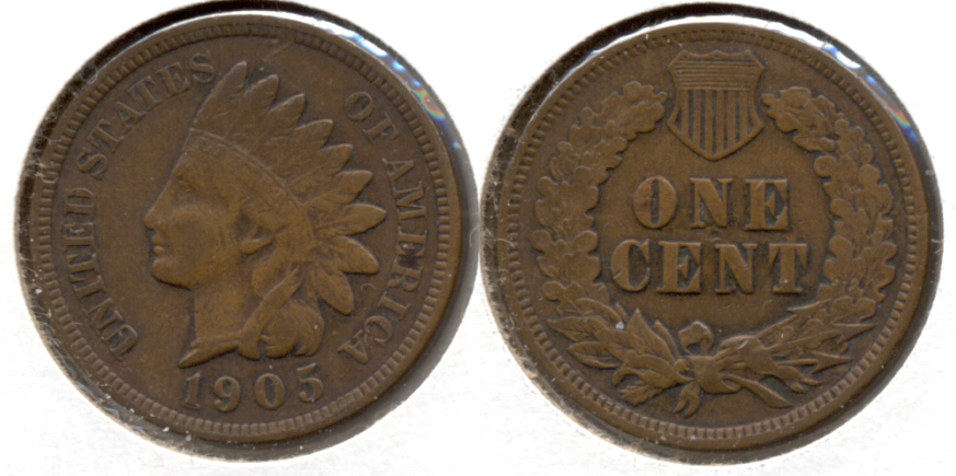 1905 Indian Head Cent VF-20 f