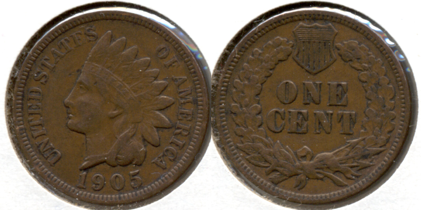 1905 Indian Head Cent VF-20 q