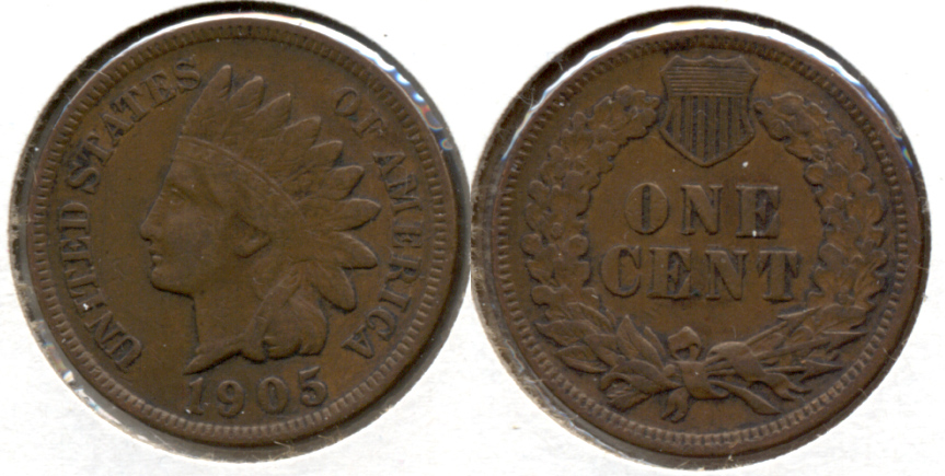 1905 Indian Head Cent VF-20 s