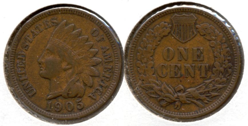 1905 Indian Head Cent VF-20 t
