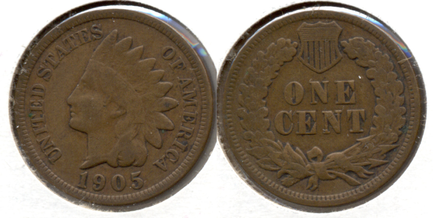 1905 Indian Head Cent VG-8 c