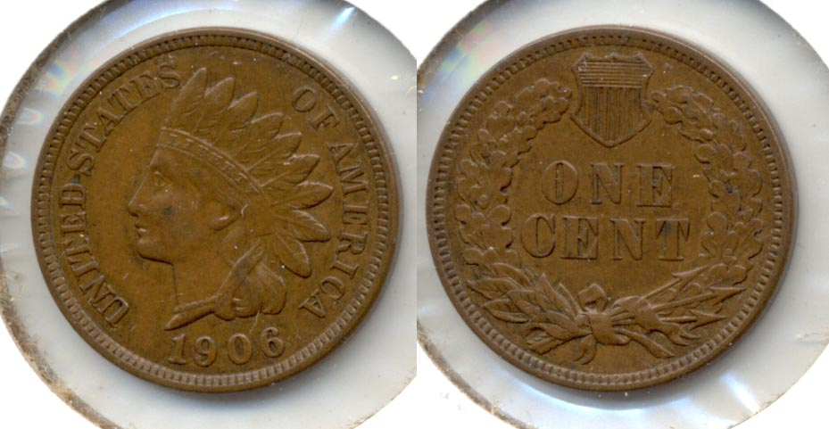 1906 Indian Head Cent AU-50 q