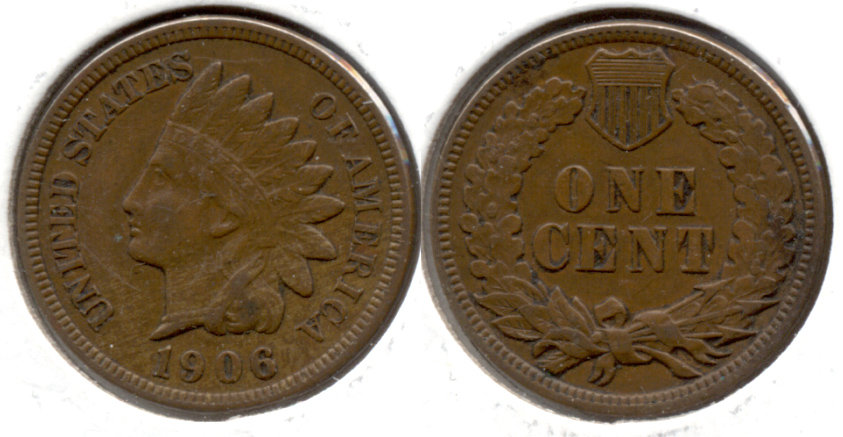 1906 Indian Head Cent EF-40 b