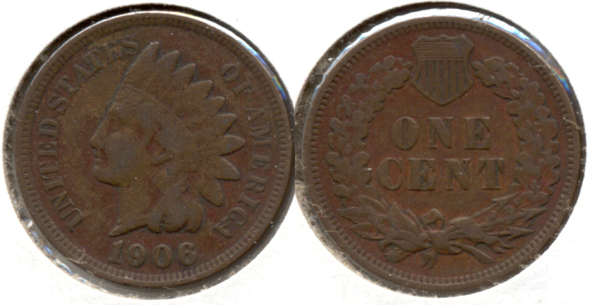 1906 Indian Head Cent Fine-12 aa