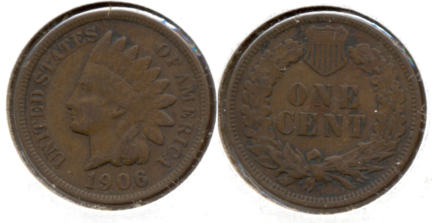 1906 Indian Head Cent Fine-12 ac