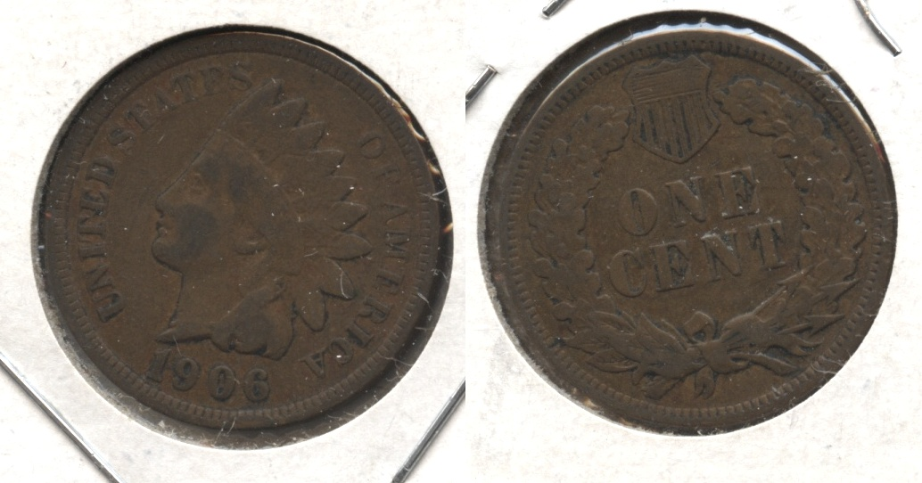 1906 Indian Head Cent Fine-12 #ar