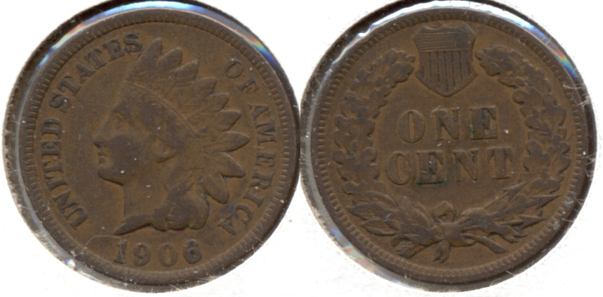 1906 Indian Head Cent Fine-12 b