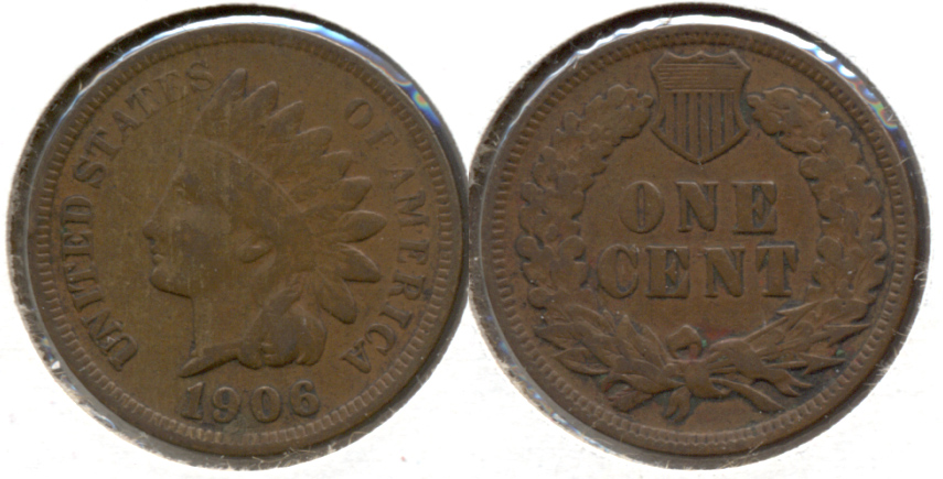1906 Indian Head Cent Fine-12 d