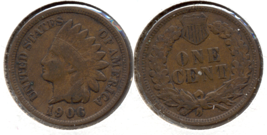 1906 Indian Head Cent Fine-12 g