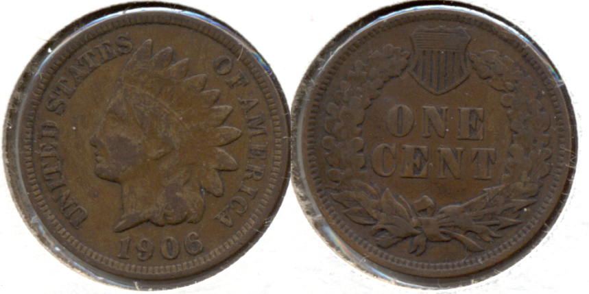 1906 Indian Head Cent Fine-12 j