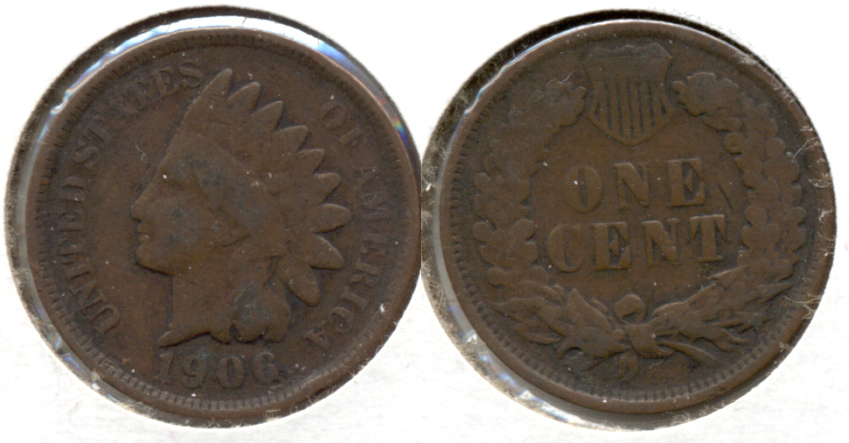 1906 Indian Head Cent Good-4 f