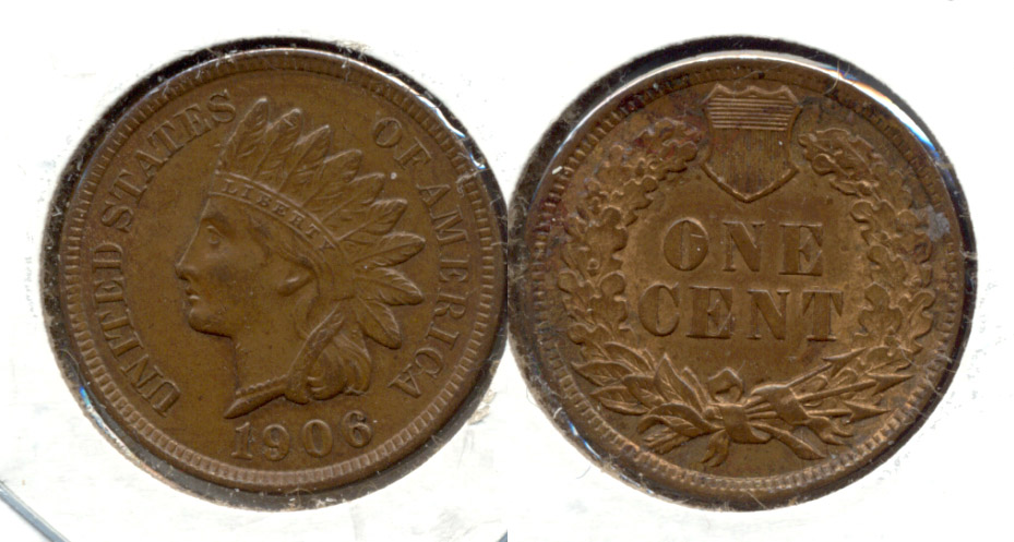1906 Indian Head Cent MS-60 Brown