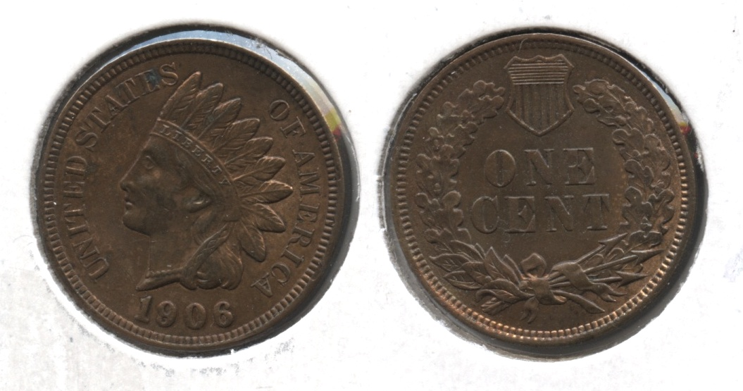 1906 Indian Head Cent MS-60 Brown #a