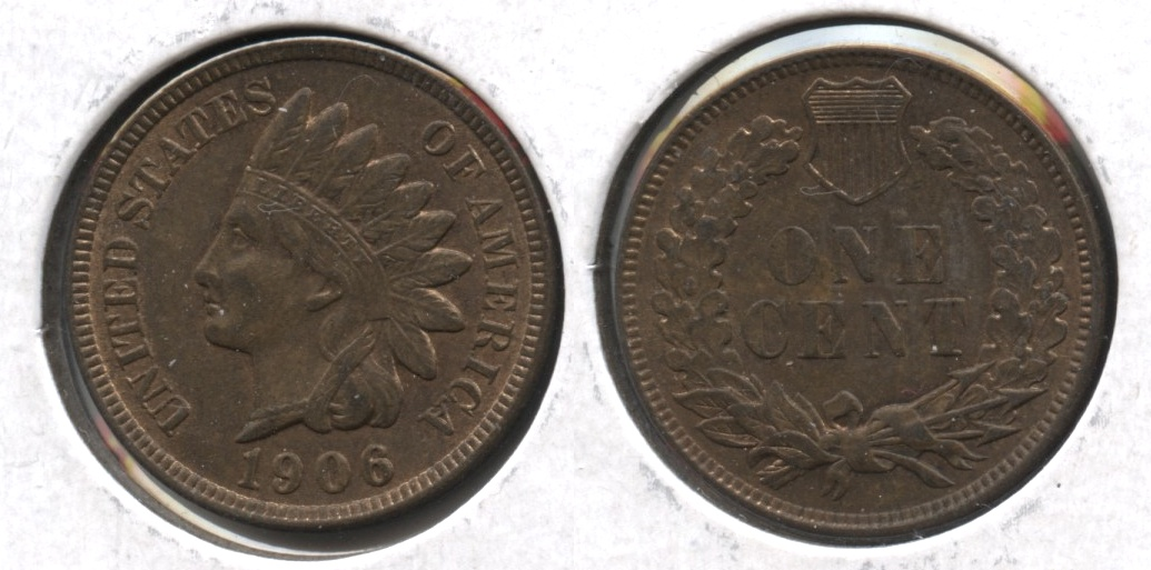 1906 Indian Head Cent MS-63 Brown #c