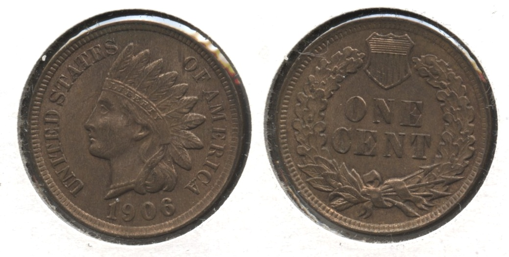 1906 Indian Head Cent MS-63 Red Brown #e