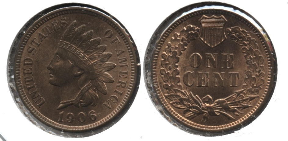 1906 Indian Head Cent MS-64 Red Brown