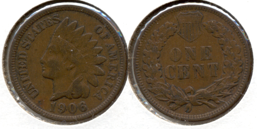 1906 Indian Head Cent VF-20 ah