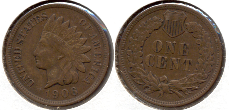 1906 Indian Head Cent VF-20 ak