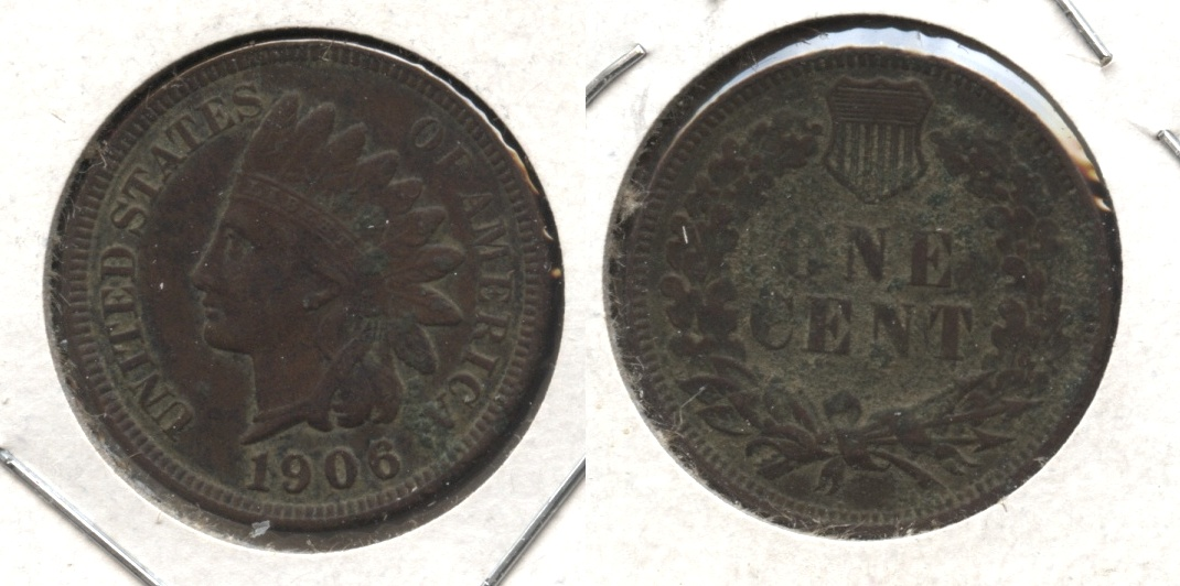 1906 Indian Head Cent VF-20 #br Dark