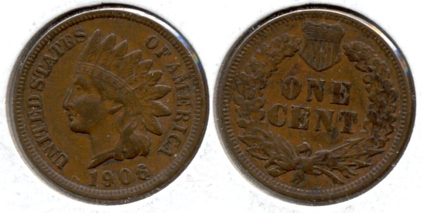1906 Indian Head Cent VF-20 e