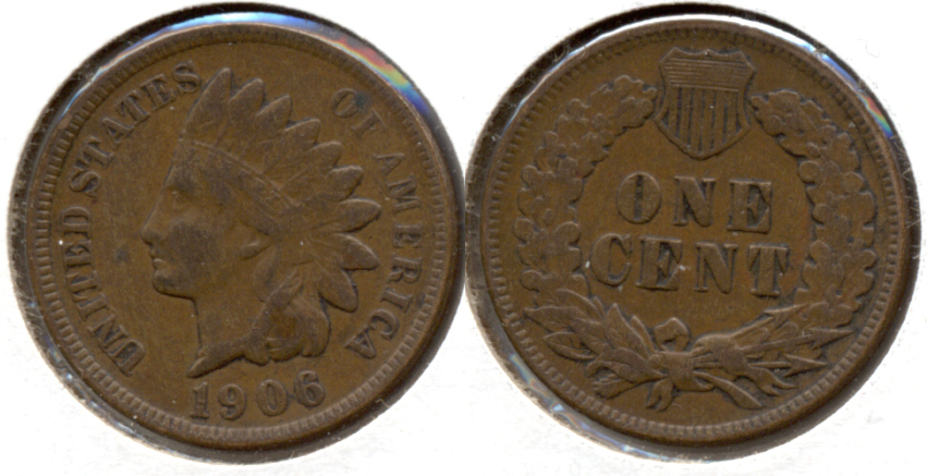 1906 Indian Head Cent VF-20 q