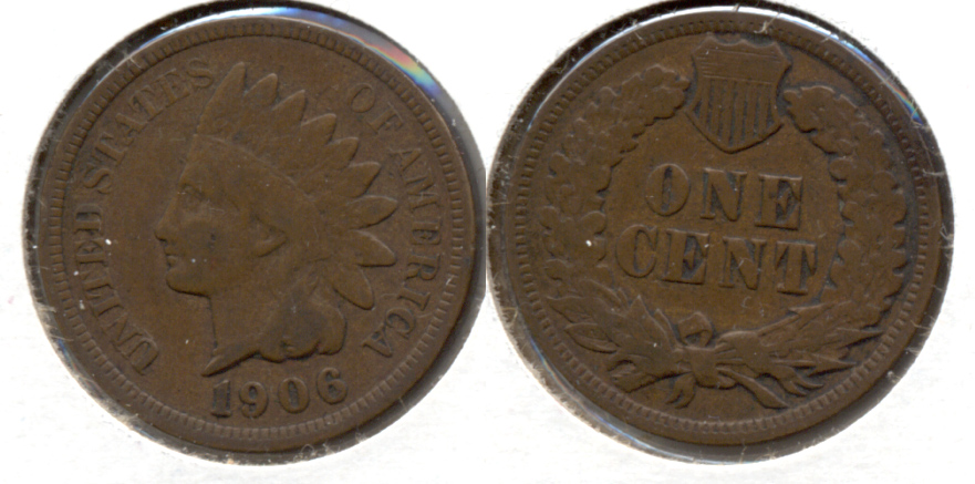 1906 Indian Head Cent VG-8 e