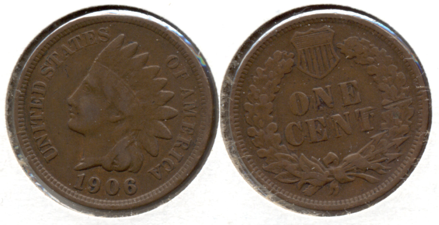 1906 Indian Head Cent VG-8 f
