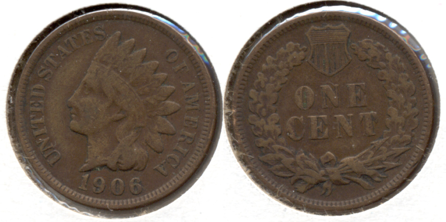 1906 Indian Head Cent VG-8 l