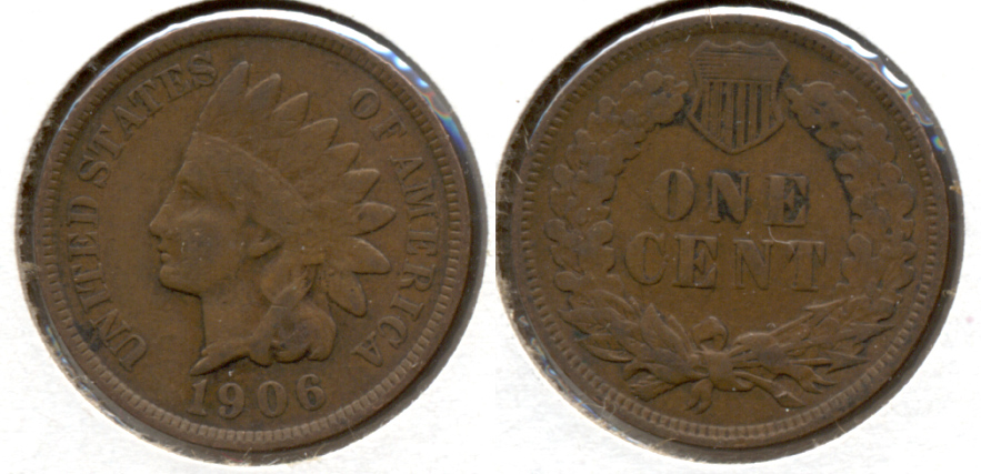 1906 Indian Head Cent VG-8 s