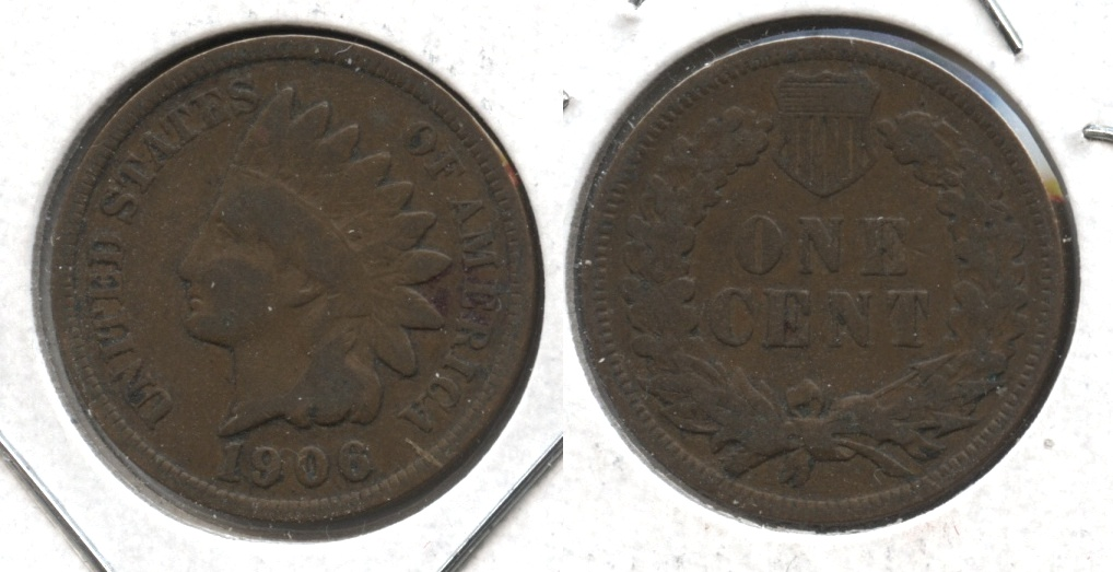 1906 Indian Head Cent VG-8 #w