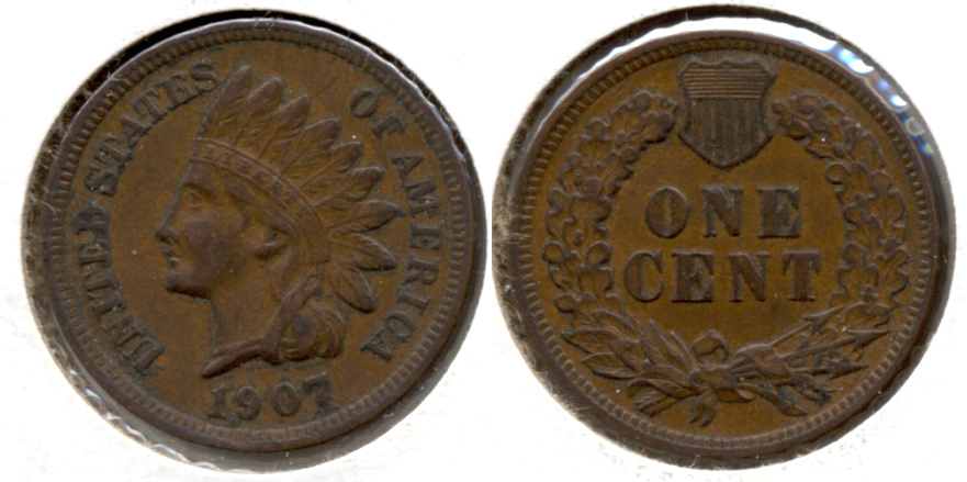 1907 Indian Head Cent EF-40 a